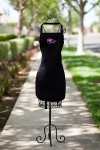 MooMilk Embroidered Apron-Black