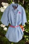 MooMilk Ladies' Embroidered Shirt-Blue